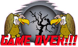 Buzzards Game Over Decal