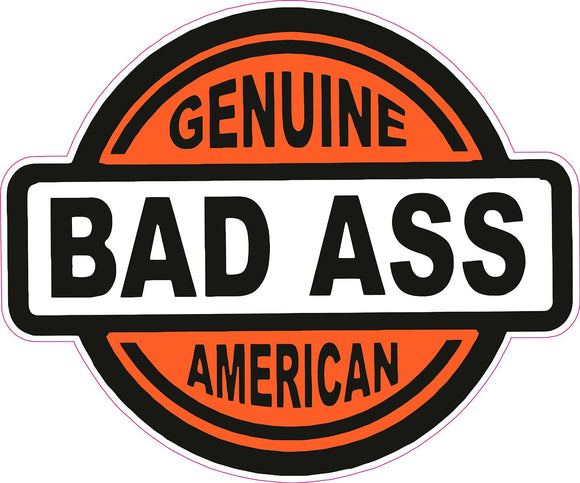 Genuine Bad Ass American Decal - | Nostalgia Decals Online retro car decals, old school vinyl stickers for cars, racing graphics for cars, car decals for girls