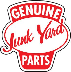 Genuine Junk Yard Parts Decal - | Nostalgia Decals Online retro car decals, old school vinyl stickers for cars, racing graphics for cars, car decals for girls