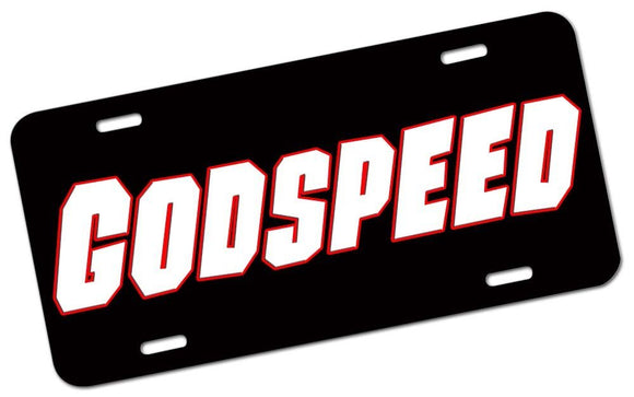 GodSpeed License Plate