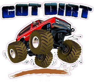Got Dirt Decal - | Nostalgia Decals Online retro car decals, old school vinyl stickers for cars, racing graphics for cars, car decals for girls