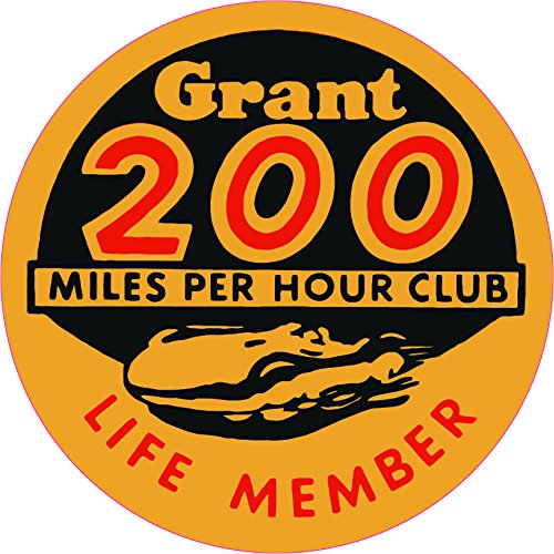 Grant 200 MPH Club Decal- | Nostalgia Decals Online window stickers for cars and trucks, die cut vinyl decals, vinyl graphics for car windows, vinyl wall decor stickers