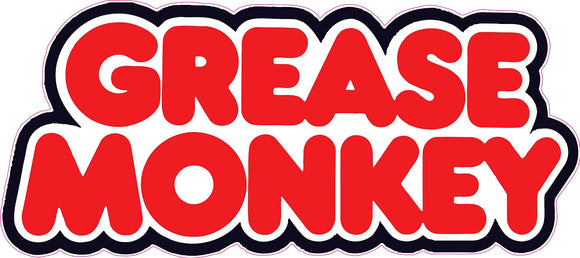 Grease Monkey Decal - | Nostalgia Decals Online retro car decals, old school vinyl stickers for cars, racing graphics for cars, car decals for girls