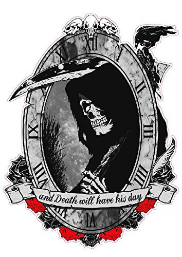 Grim Reaper Death Will Have His Day Decal - 5