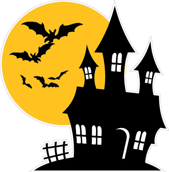 Halloween Haunted House with Bats Wall Decor Decal - Wall Decor - 12