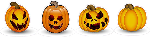 Halloween Pumpkins Version 5 Wall or Window Decor Decal - 12