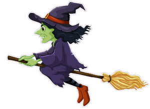 "Halloween Wicked Witch Version 2 Wall Decor Decal - Wall Decor - 12"" x 10"" 