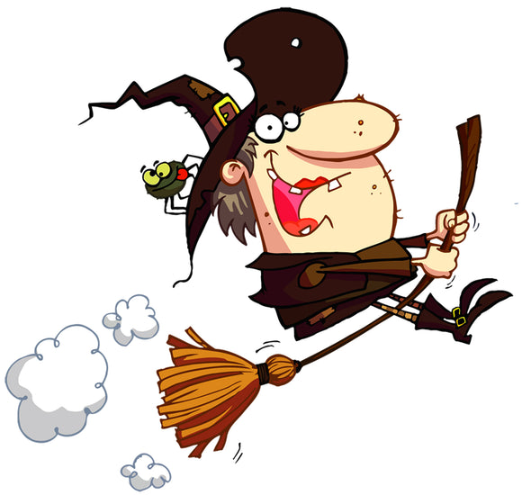 Halloween Funny Witch Window and Wall Decor Decal