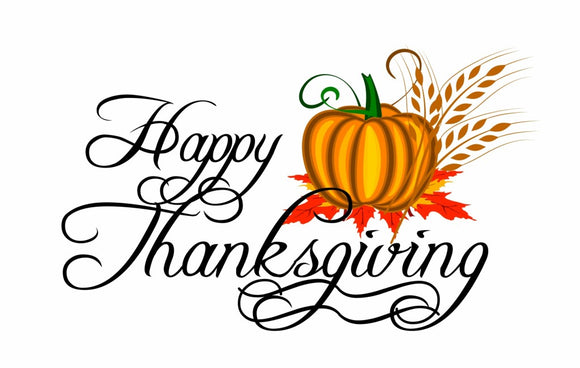 Happy Thanksgiving Sign Wall or Window Decor Decal - 12