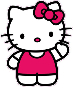 "Hello Kitty Decal and Wall Decor - Decal - 5"" x 3"" 