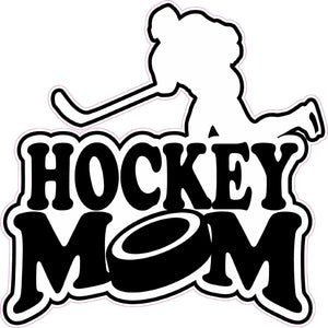 Hockey Mom Decal- | Nostalgia Decals Online truck decal stickers for windows, car window decals and stickers, auto brand stickers, logo decals for cars