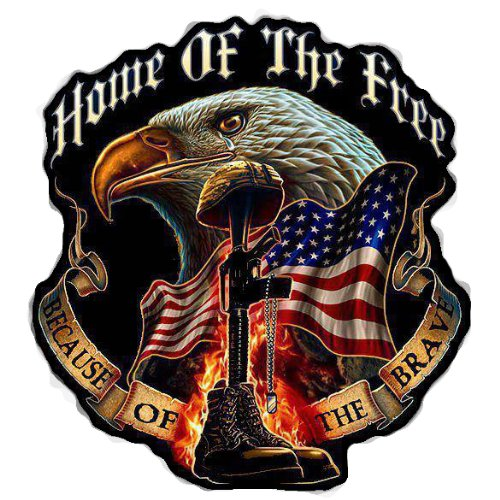 Home of the Free Because of the Brave Decal - 5