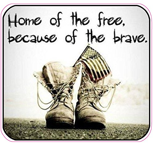 Home of the Free Because of the Brave Version 3 Decal
