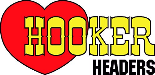 Hooker Headers Heart Version 2 Decal - | Nostalgia Decals Online retro car decals, old school vinyl stickers for cars, racing graphics for cars, car decals for girls