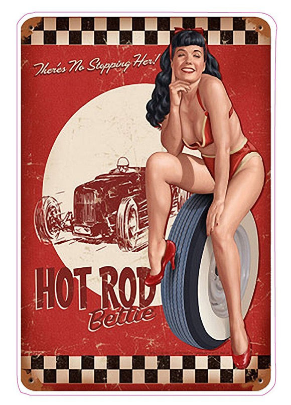 Hot Rod Pin Up Girl Decal