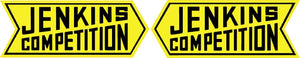 Jenkin Competition Yellow Pair Decal- | Nostalgia Decals Online window stickers for cars and trucks, die cut vinyl decals, vinyl graphics for car windows, vinyl wall decor stickers