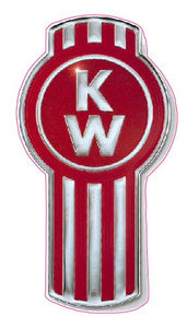 Kenworth Badge Decal - | Nostalgia Decals Online trucker window decals, vinyl graphics for semi trucks, vinyl tractor stickers