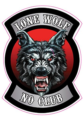 Lone Wolf No Club 1 Decal - | Nostalgia Decals Online retro car decals, old school vinyl stickers for cars, racing graphics for cars, car decals for girls