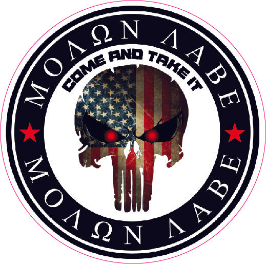 Molon Labe Come and take it Punisher Decal- 10