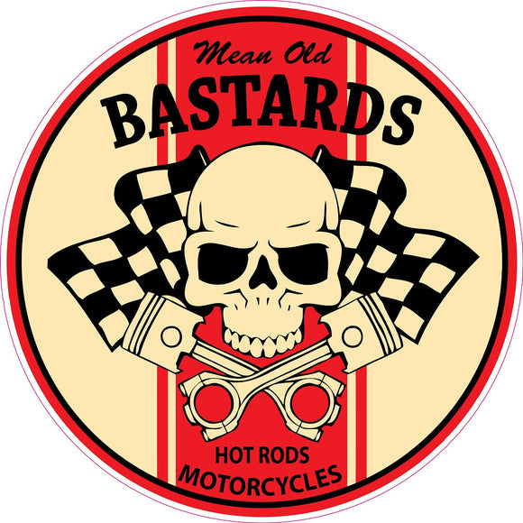 Mean Old Bastard Decal | Nostalgia Decals Online vinyl decals for motorcycles, vinyl motorcycle stickers, die cut vinyl motorcycle graphics