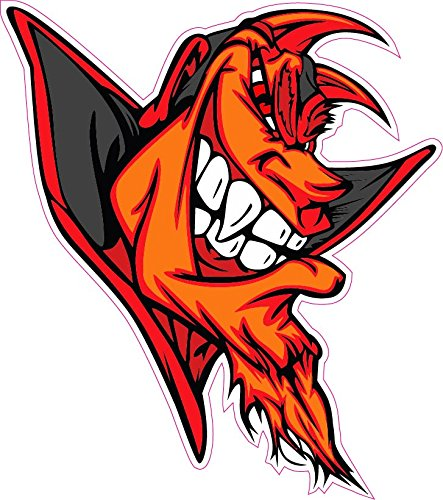 Mean Old Devil Decal - | Nostalgia Decals Online retro car decals, old school vinyl stickers for cars, racing graphics for cars, car decals for girls
