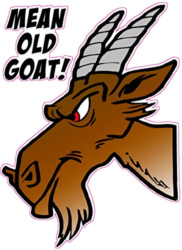 Mean Old Goat Decal - | Nostalgia Decals Online retro car decals, old school vinyl stickers for cars, racing graphics for cars, car decals for girls