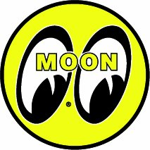 "Moon Eyes Decal- 5"" x 5"" 