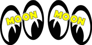 Moon Eyes Pair Right and Left Decal - | Nostalgia Decals Online retro car decals, old school vinyl stickers for cars, racing graphics for cars, car decals for girls