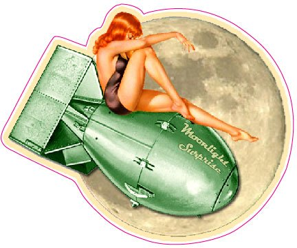 Moon Light Surprise Pin Up Decal - 5