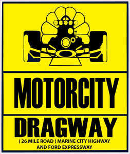 "Motorcity Dragway Marine City Michigan Drag Racing Decal - 5"" x 5"" 