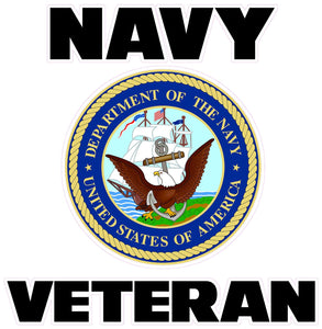 Navy Veteran Decal - | Nostalgia Decals Online military window stickers for cars and trucks, army vinyl decals for cars, marine corps vinyl stickers, die cut vinyl navy decals