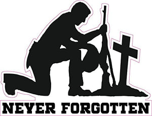 "Never Forgotten Decal - 6"" x 4.5"" 