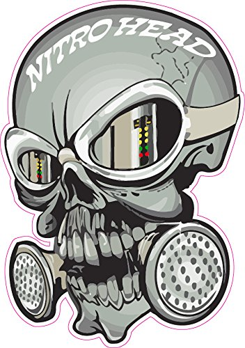 Nitro Head Skull Decal - | Nostalgia Decals Online retro car decals, old school vinyl stickers for cars, racing graphics for cars, car decals for girls