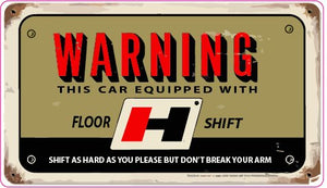 Old Hurst Floor Shift Plaque Decal - | Nostalgia Decals Online retro car decals, old school vinyl stickers for cars, racing graphics for cars, car decals for girls