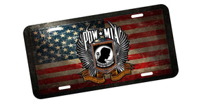 POW License Plate - | Nostalgia Decals Online military window stickers for cars and trucks, army vinyl decals for cars, marine corps vinyl stickers, die cut vinyl navy decals