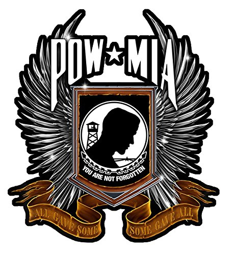 POW MIA All Gave Some Some Gave All Decal - | Nostalgia Decals Online military window stickers for cars and trucks, army vinyl decals for cars, marine corps vinyl stickers, die cut vinyl navy decals