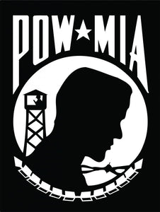 POW MIA Black Decal - | Nostalgia Decals Online military window stickers for cars and trucks, army vinyl decals for cars, marine corps vinyl stickers, die cut vinyl navy decals