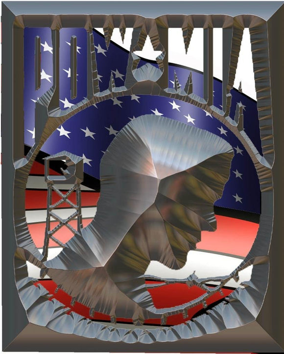 POW MIA Chiseled Decal - | Nostalgia Decals Online military window stickers for cars and trucks, army vinyl decals for cars, marine corps vinyl stickers, die cut vinyl navy decals