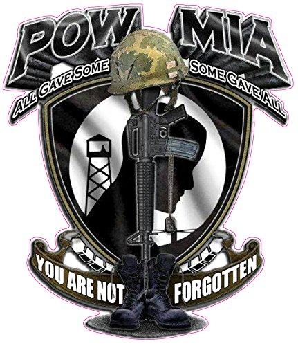 POW MIA You Are Not Forgotten Decal - | Nostalgia Decals Online military window stickers for cars and trucks, army vinyl decals for cars, marine corps vinyl stickers, die cut vinyl navy decals