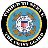 Proud to Serve the Coast Guard Decal - 5"