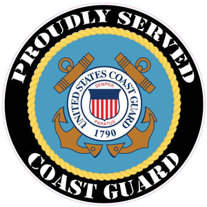 Proudly Served Coast Guard Decal - 3"