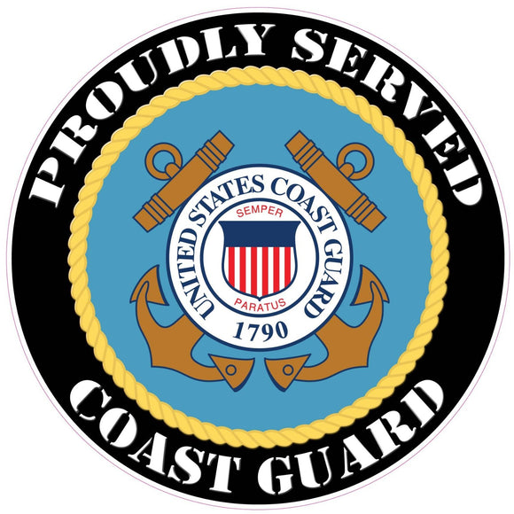 Proudly Served Coast Guard Decal - 3