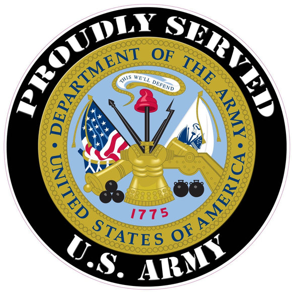 Proudly Served U.S. Army Decal - 3