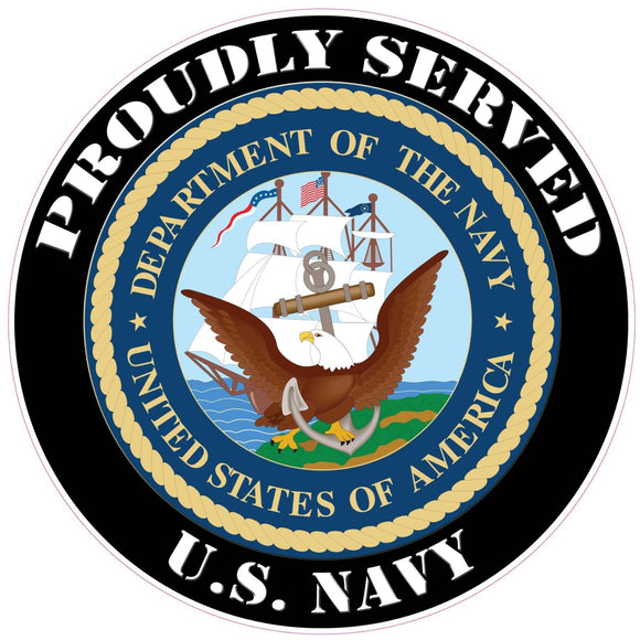 Proudly Served U.S. Navy Decal - 3