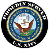 Proudly Served U.S. Navy Decal - 3"