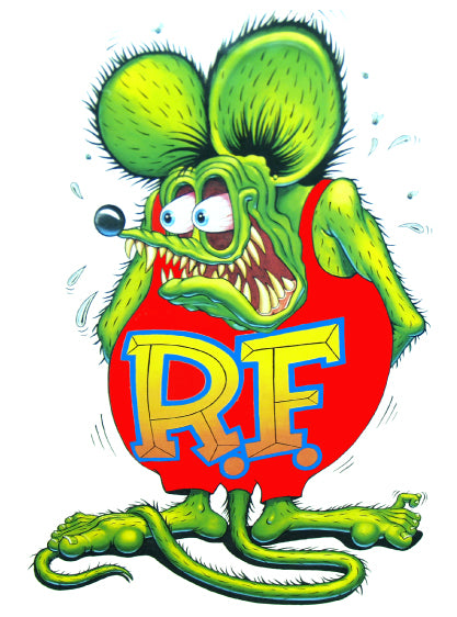 Rat Fink Decal  | Nostalgia Decals Online Ed Roth rat fink vinyl decals, rat fink stickers for car windows, ed roth truck window decals
