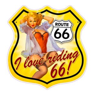 Route 66 Decal - | Nostalgia Decals Online retro car decals, old school vinyl stickers for cars, racing graphics for cars, car decals for girls