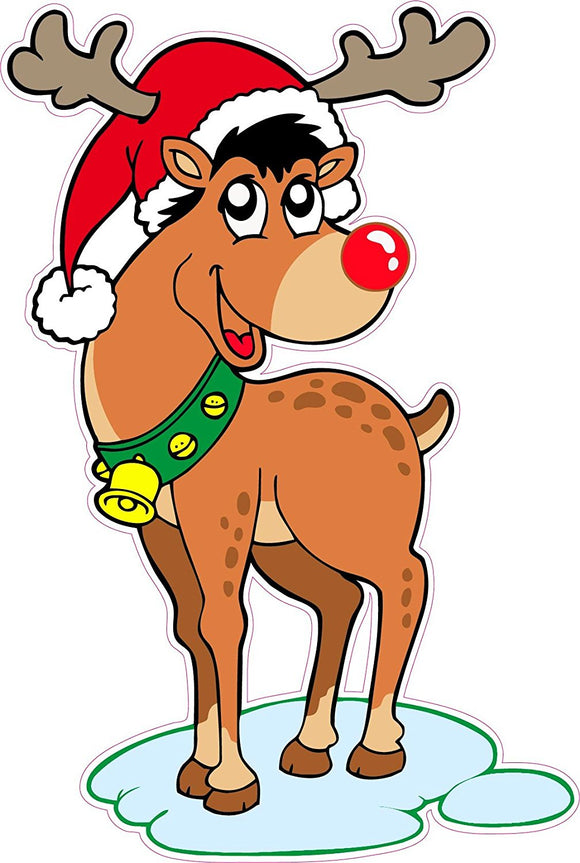 Rudolph the Red Nose Reindeer Window and Wall Decor Decal Version 2