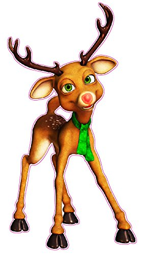 Rudolph the Red Nose Reindeer Window and Wall Decor Decal - 12