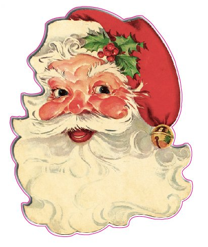 Santa Claus Face Window and Wall Decor Decal - 12